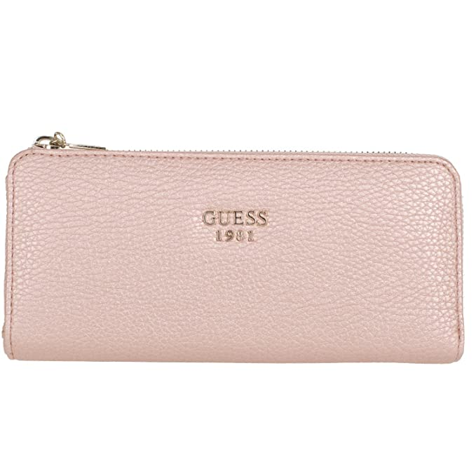 02c9d118e805 GUESS Women s Cate SLG Slim Zip Wallet Rose Gold Wallets  Amazon.ca ...