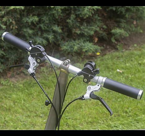 Eco Piel para manillar de aluminio Lock para Brompton Bicicleta ...