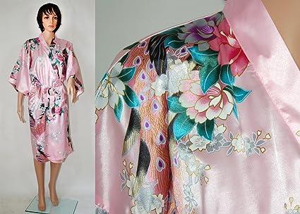 Kimono - Albornoz de raso, Asiático, bata interior, pijama, hombre o mujer