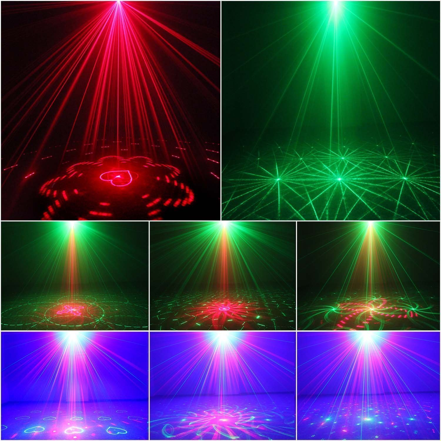 Amazon com  Laser Light 40 Patterns LED Projector DJ Gear Stage Lighting  Red and Green Show With Blue Auto Sound active Professional Disco DJs  Family Party. Amazon com  Laser Light 40 Patterns LED Projector DJ Gear Stage
