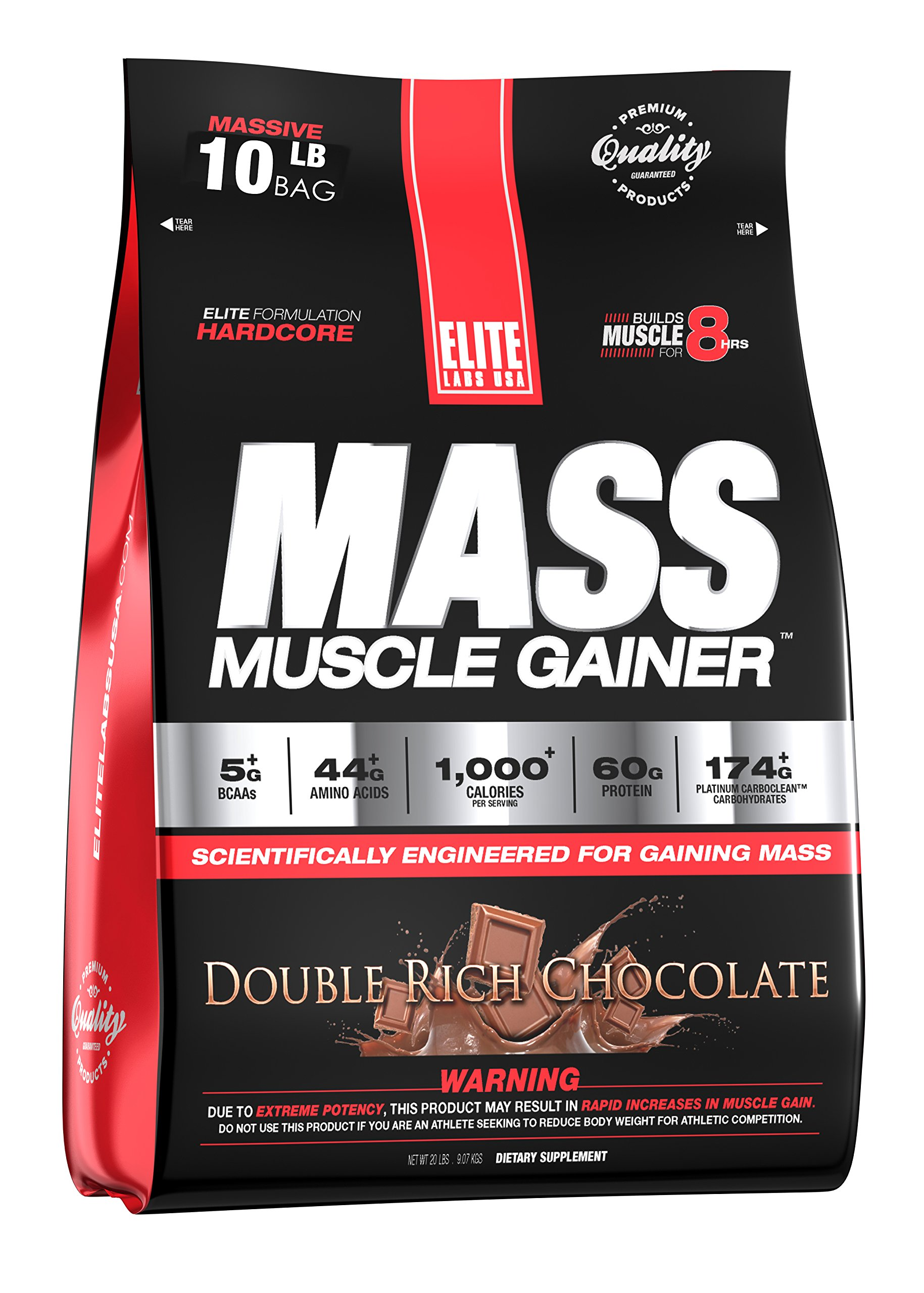 Elite Labs USAMASS MUSCLE GAINER, BANANA CREAM PIE, 10.16 LBS