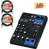 Yamaha MG06 Mixer Bundle with XLR Cables and Polishing Cloth