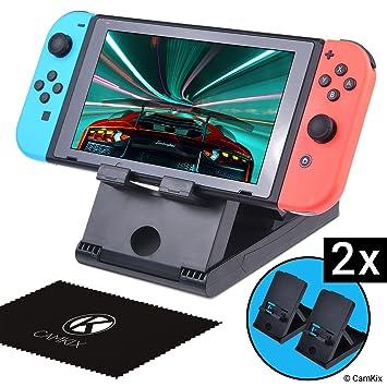 Camkix Juego De 2 Soportes Compatible Con Nintendo Switch Amazon