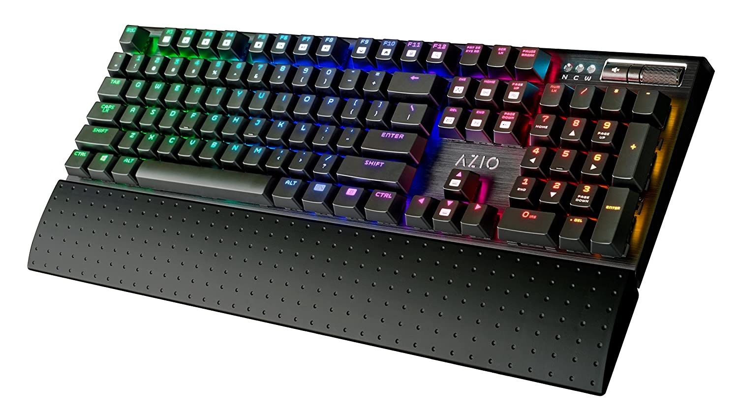 Amazon mechanical keyboard - Amazon Com Azio Rgb Backlit Mechanical Gaming Keyboard Mgk1 Rgb Computers Accessories