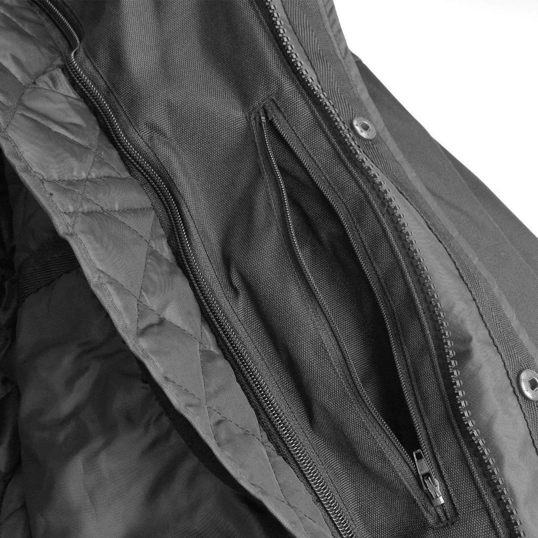 schwarz Nerve Shop Motorradjacke Herren Winter Sommer Textil Scooter Jacke Wasserdicht mit Protektoren M/änner Protektorenjacke Lang XL