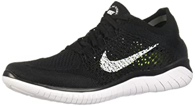 6c99911b5457 Nike Men s Free RN Flyknit 2018 Black White 8.0
