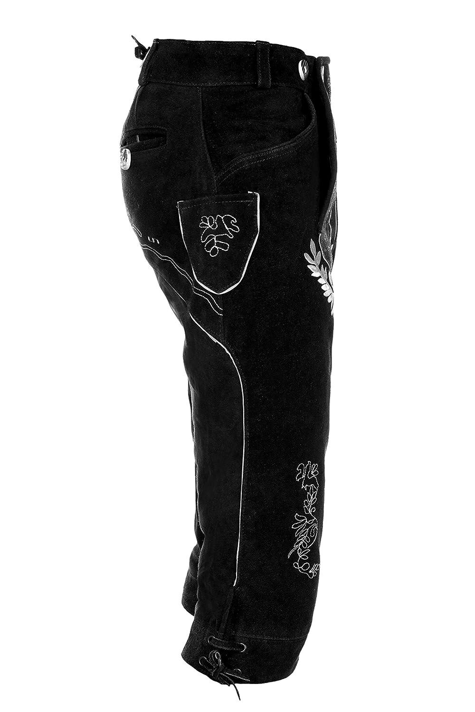 Kniebund lederhose schwarz herren Lederhosen kniebund
