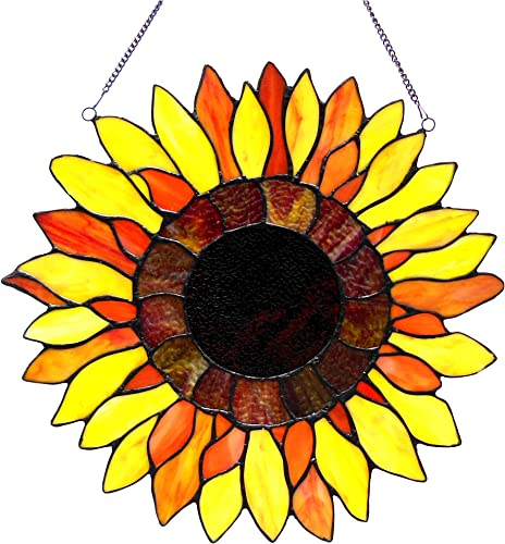 Chloe Lighting Sunnyville Sunflower Window Panel
