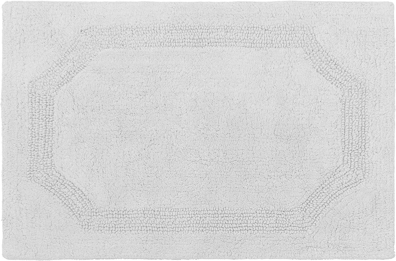 Laura Ashley Reversible Cotton 17 x 24 in. Bath Mat, Light Grey