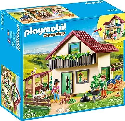 Amazon.com: PLAYMOBIL 70133 Country Farmhouse - Granja ...