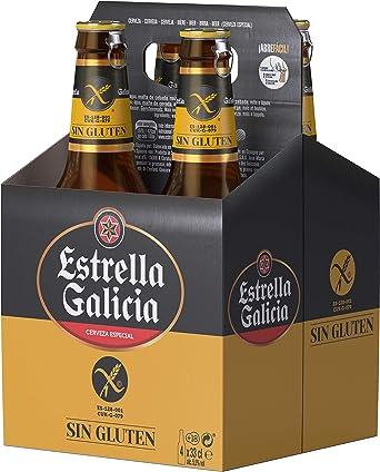 Estrella Galicia Cerveza Sin Gluten - Pack de 4 botellas x 33 cl: Amazon.es: Alimentación y bebidas