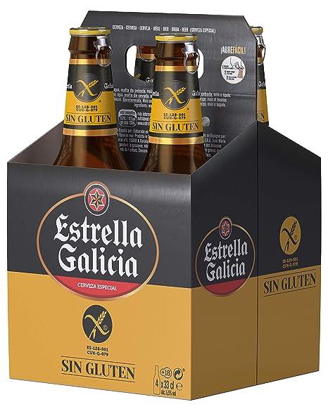 Estrella Galicia Cerveza Especial Sin Gluten - Paquete de 4 ...