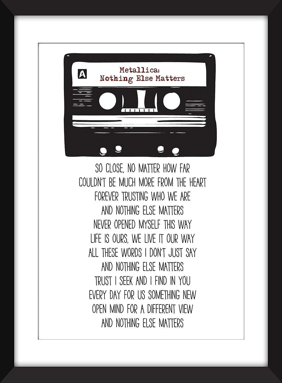 Metallica Nothing Else Matters Lyrics Unframed Print