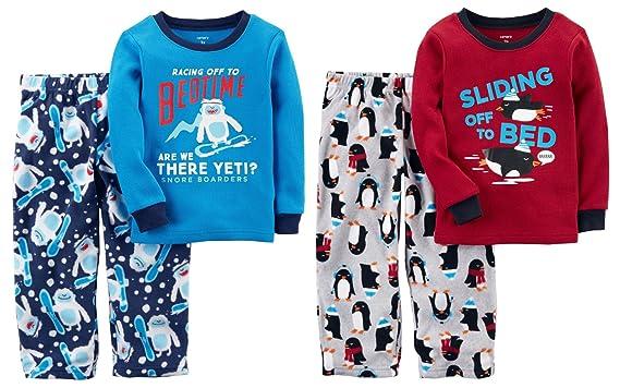 f5ffd2553 Amazon.com  Carter s Little Boy s Toddler 4 Piece Long Sleeve ...