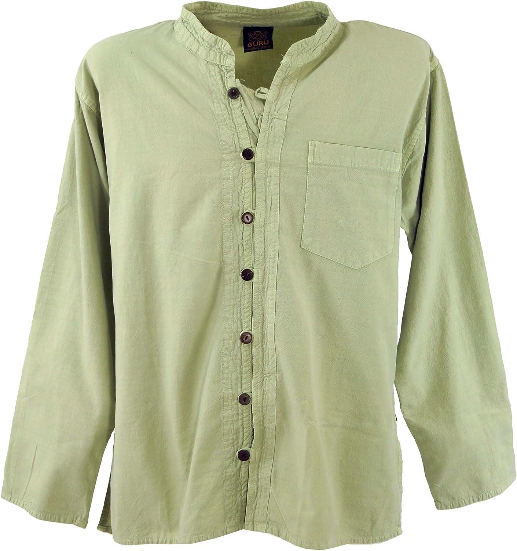 Guru-Shop - Camisa de algodón para hombre