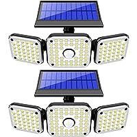 NBJ 3 Heads Security Lights Solar Powered, 112 LED Solar Flood Lights