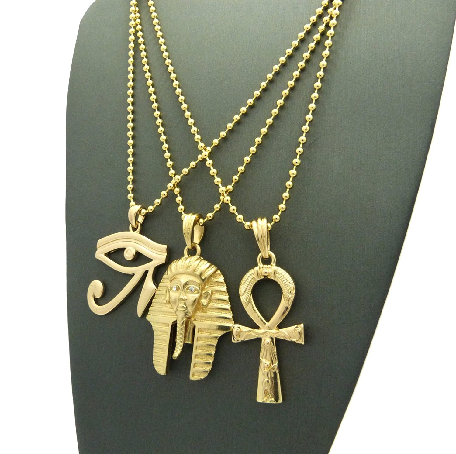 gold micro com hiphopcloset nefertiti chains head mmp chain silver