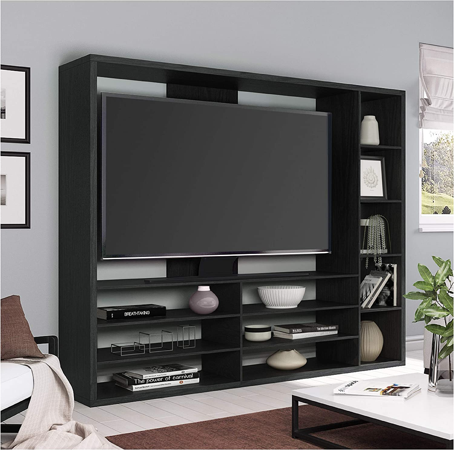 """black oak TV stand table Mainstays Entertainment Center for TVs 15/"""" up to 40/"""""""
