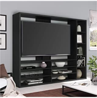 Amazon Com Espresso Tv Stand With Hutch For Flat Panel Lcd Or Led