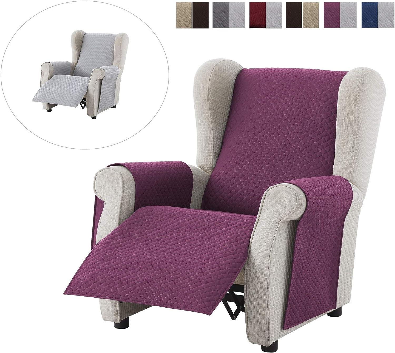 1 Sitzer//Relax Farbe Reversibel gepolsterter Sofaschutz Textil-home Sesselschoner Sofa/überwurf Adele