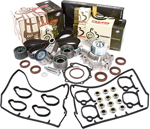Evergreen TBK277AMVC Fits 98 Subaru Outback Forester EJ25 Timing Belt Kit Valve Cover Gasket GMB Water Pump