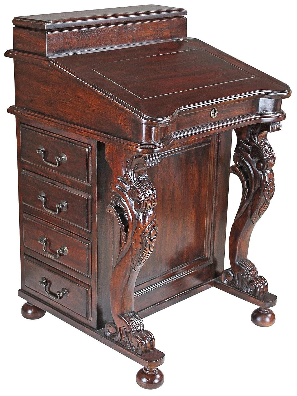 Amazon.com: Design Toscano Captain's Davenport Home Office Desk, 33 Inch,  Mahogany, Walnut: Kitchen & Dining - Amazon.com: Design Toscano Captain's Davenport Home Office Desk, 33