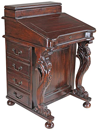 Image Unavailable - Amazon.com: Design Toscano Captain's Davenport Home Office Desk, 33