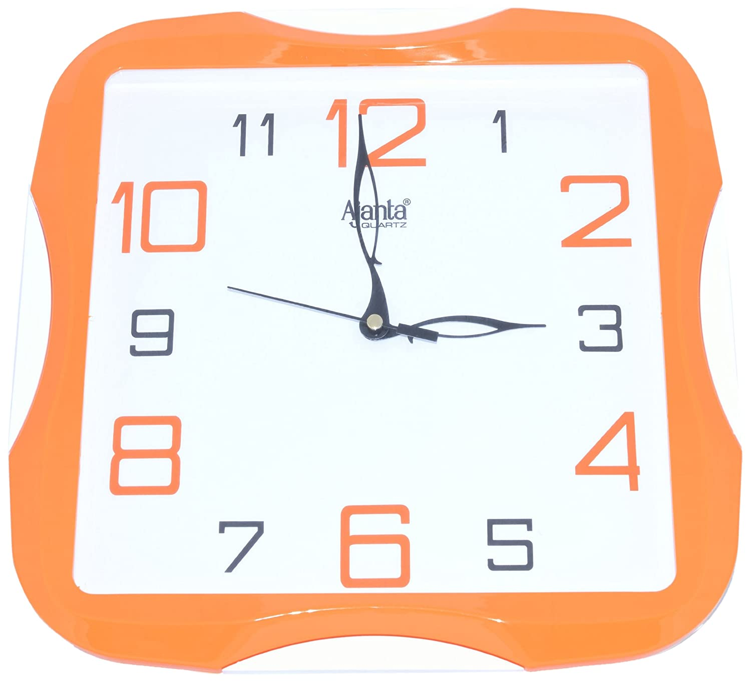 Buy ajanta simple clock orange 2007 online at low prices in buy ajanta simple clock orange 2007 online at low prices in india amazon amipublicfo Images