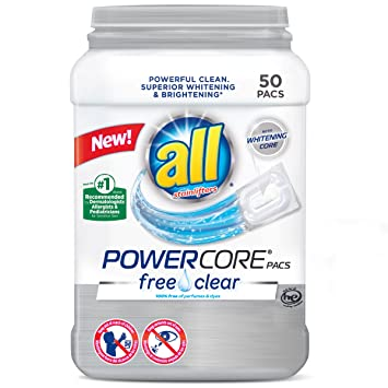 Amazon.com: all PowerCore Pacs Laundry Detergent, Free Clear for ...