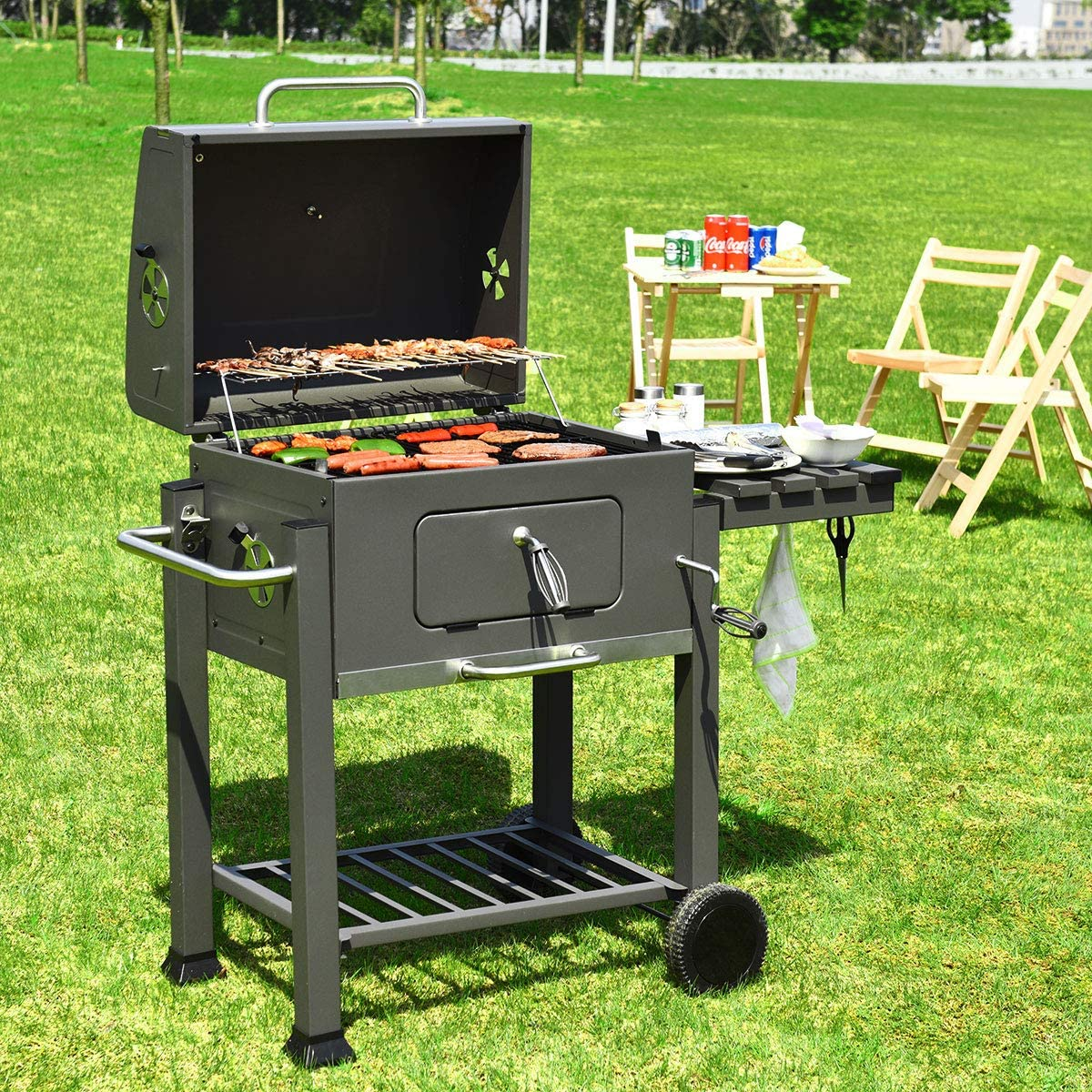 Giantex Barbecue à charbon portable pour gazon, pique nique