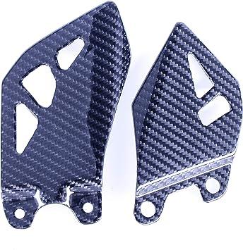2011-2017 Kawasaki ZX10R Carbon Fiber Heel Plates 2x2 twill weaves