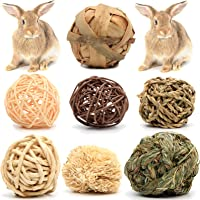 Youngever 7 Pack Small Animal Activity Toys, Assorted Rabbit Balls, Chewable Teething Activity Toys for Bunny, Rabbit…