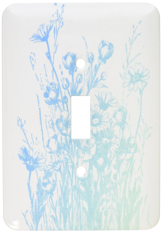 3dRose lsp/_79219/_1 Vintage Aqua Floral Single Toggle Switch