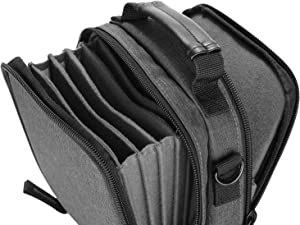 Neewer Camera Lens Filter Pouch Case with Shoulder Strap, Made of Solid Canvas for 6 Piece 100x100mm or 100x150mm Square or Rectangular Filters