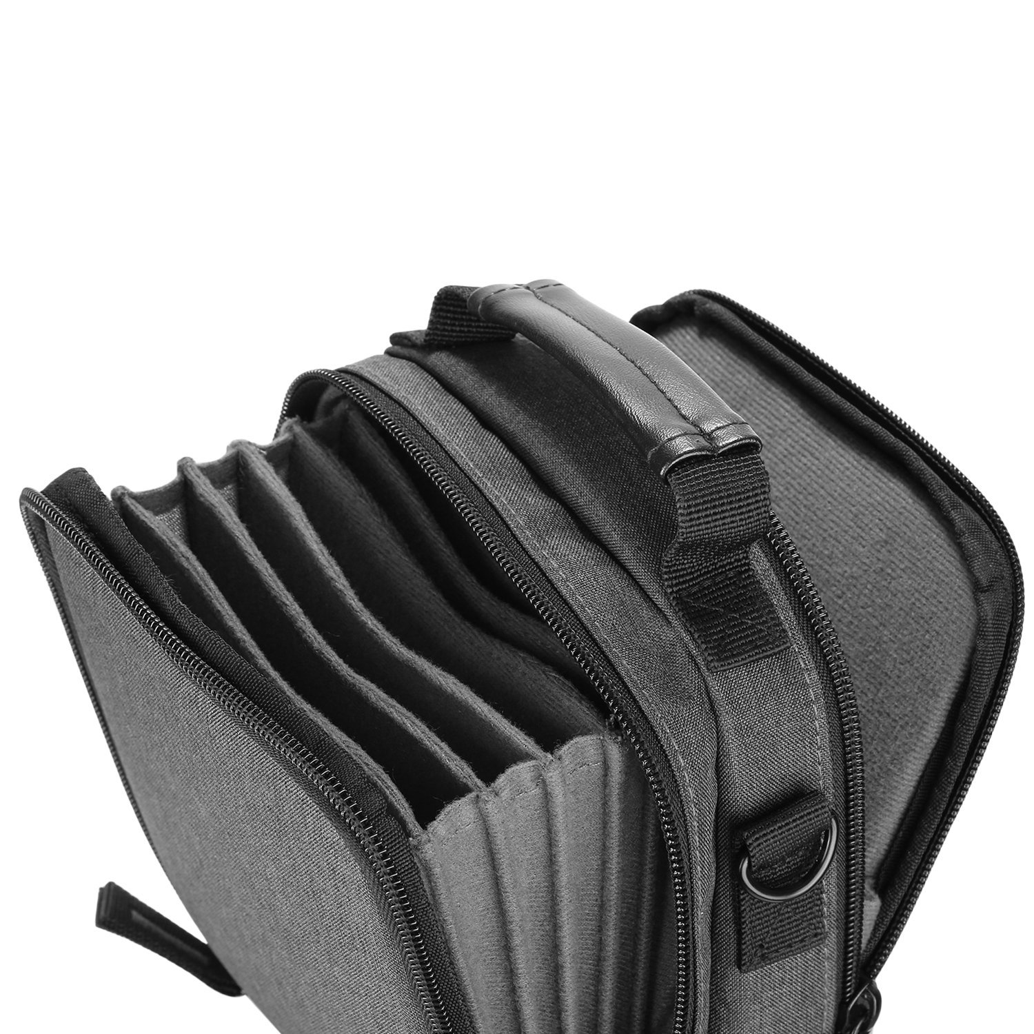 Neewer Camera Lens Filter Pouch Case with Shoulder Strap, Made of Solid Canvas for 6 Piece 100x100mm or 100x150mm Square or Rectangular Filters 10093600