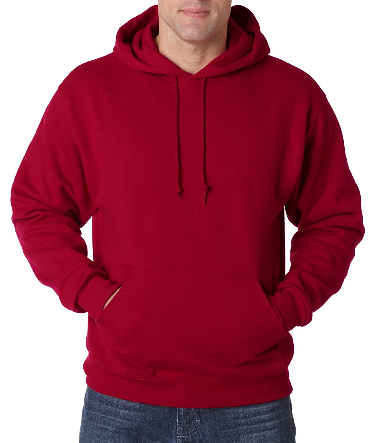 XXXX-Large NuBlend 50//50 Pullover Hood Maroon Jerzees 8 oz