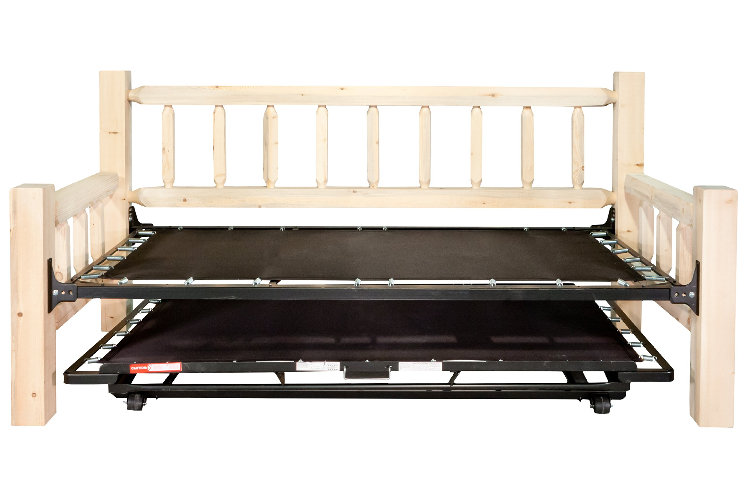 Montana Woodworks Homestead Collection Day Bed with Pop Up Trundle Bed, Ready to Finish by Montana Woodworks