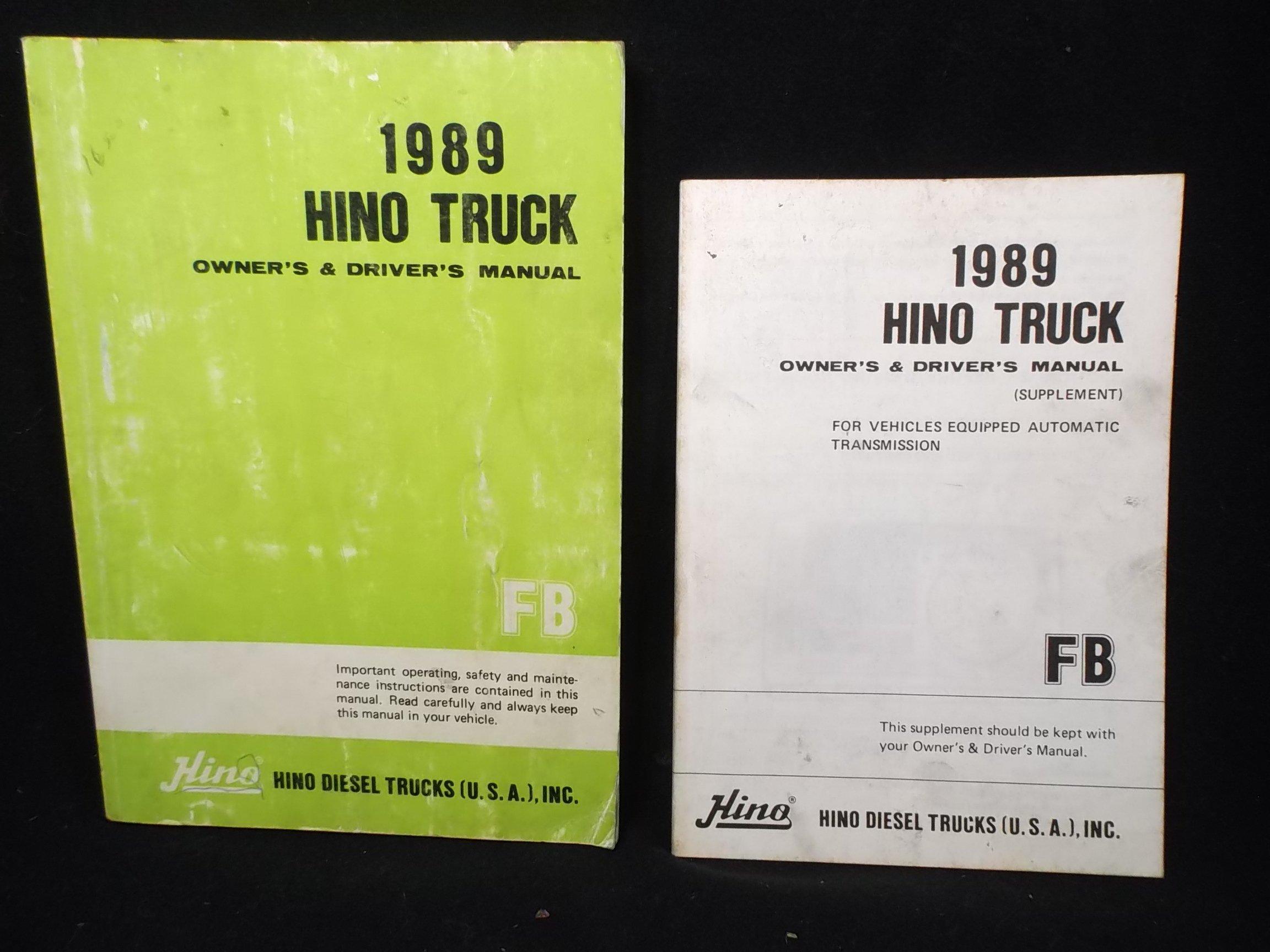 Hino owners manual array hino 1989 fb truck owners operators drivers manual hino motors ltd rh amazon com fandeluxe Choice Image