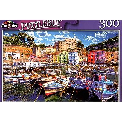 Small Fishing Boats at Harbor Marina Grande, Amalfi Coast, Italy - 300 Pieces Jigsaw Puzzle: Toys & Games