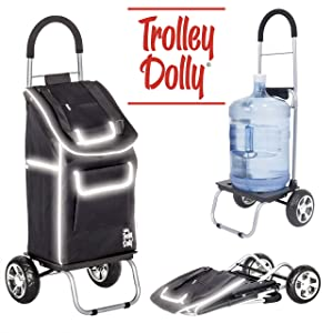 dbest products Trolley Dolly Reflective Shopping Grocery Foldable Cart Storage Mom,