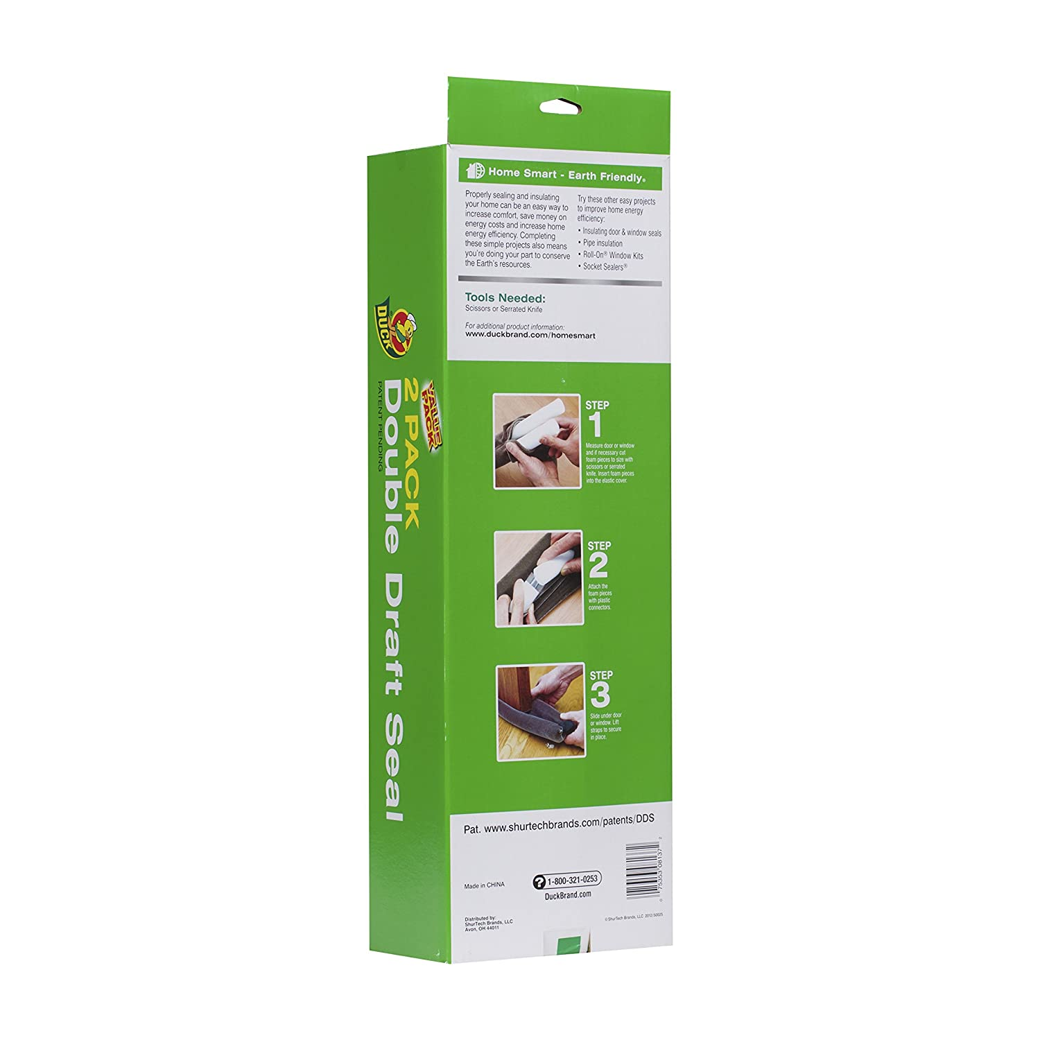 duck brand 1402601 double draft complete seal set 2 count