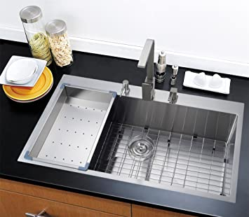 36 X 22 Top-mount Single Bowl Kitchen Sink Drop-in 304 Stainless ...