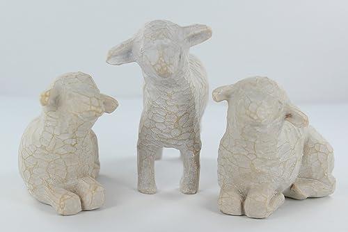 Willow Tree Three White Sheep Nativity Figurines