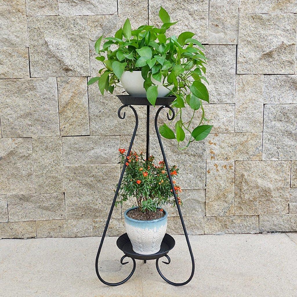 Wghhjz Iron Flower Frame Modern Minimalista Multi-Strato Nordico Creativo in Vaso da Pavimento (colore   nero B)