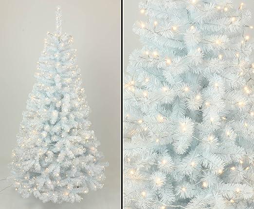 WeißEr Weihnachtsbaum Mit Beleuchtung kunstpflanzen discount.Weißer Tannenbaum 150cm Georgia mit 96