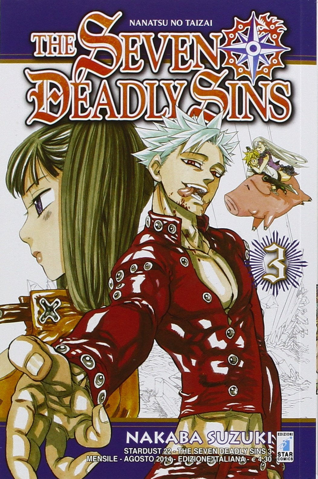 The seven deadly sins: 3 Copertina flessibile – 1 ago 2014 Nakaba Suzuki Star Comics 8869200906 FANTASY