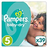 Pampers Baby-Dry - Size 5 Junior, 39 Nappies