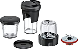 Bosch MUZ9TM1 Lifestyle Set Tasty, 5 In 1 Multi Chopper Set Mixing, Grinding, Chopping, storing, Togo Solution for Food Processors Optimum