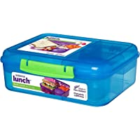 Sistema Bento Lunch Box mit Obst/Joghurt Topf, Mehrfarbig, 1,65Liter (farbig Sortiert)