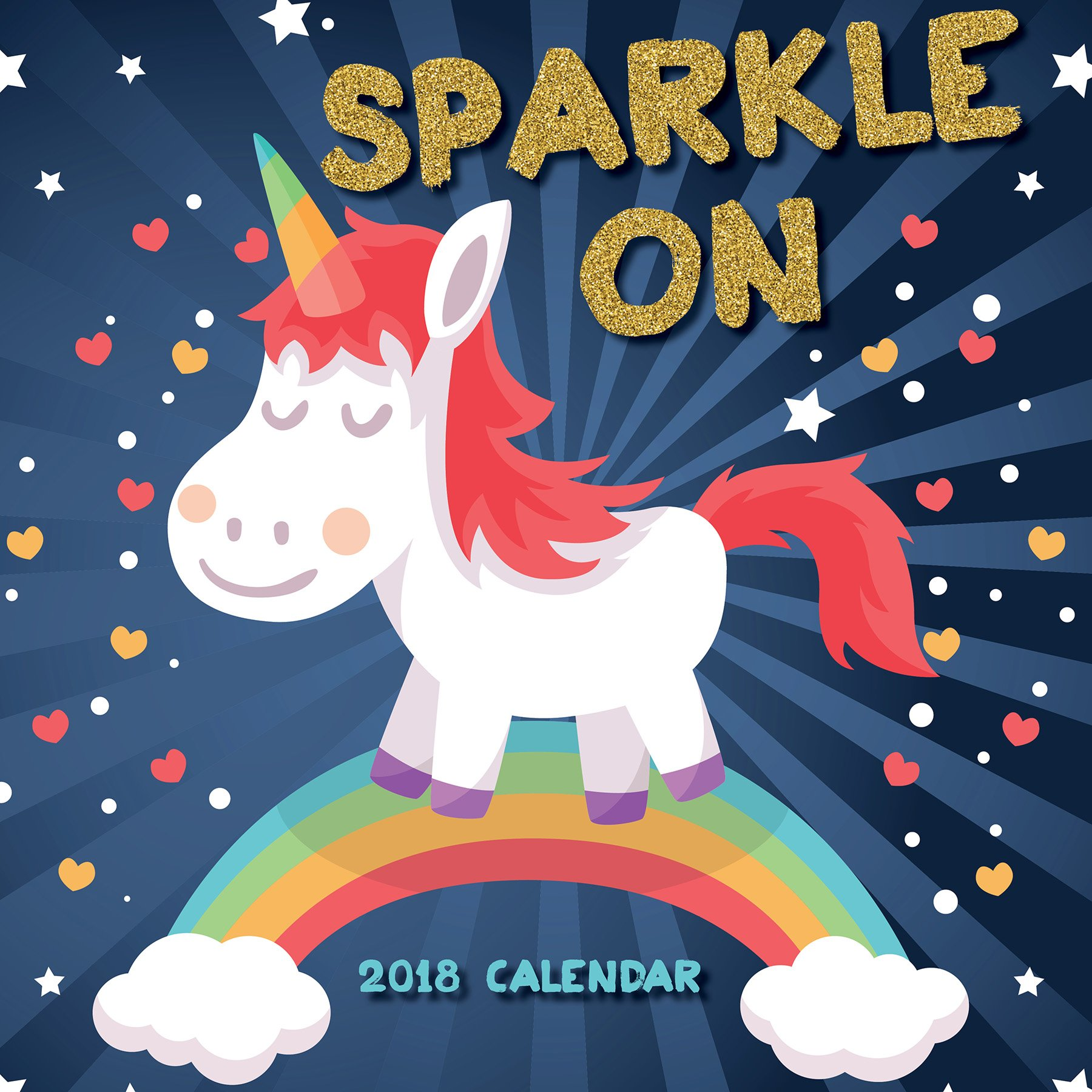 2018 Sparkle On: Unicorns Wall Calendar pdf epub